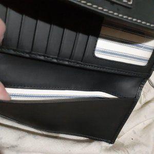 Dooney & Bourke Bags - Dooney & Bourke Beacon Leather Woven Wallet